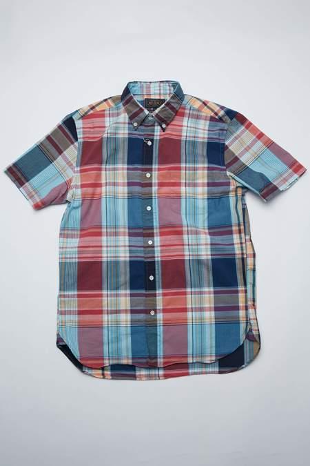 Beams Plus Short Sleeve Button Down - Big Check/Navy