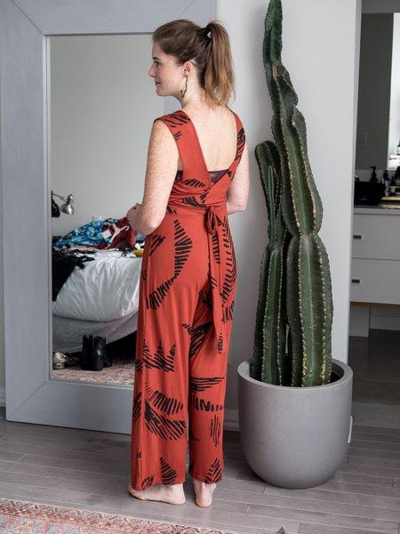 Dagg & Stacey Ottilie Wrap Jumpsuit - Paprika
