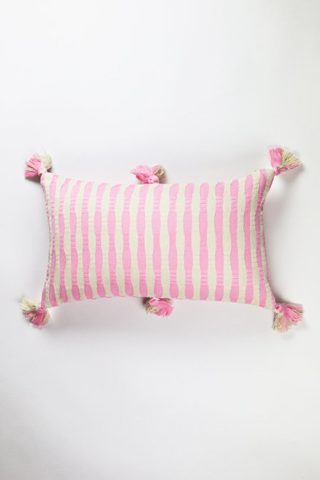 Archive New York Antigua Pillow - Baby Pink Stripe