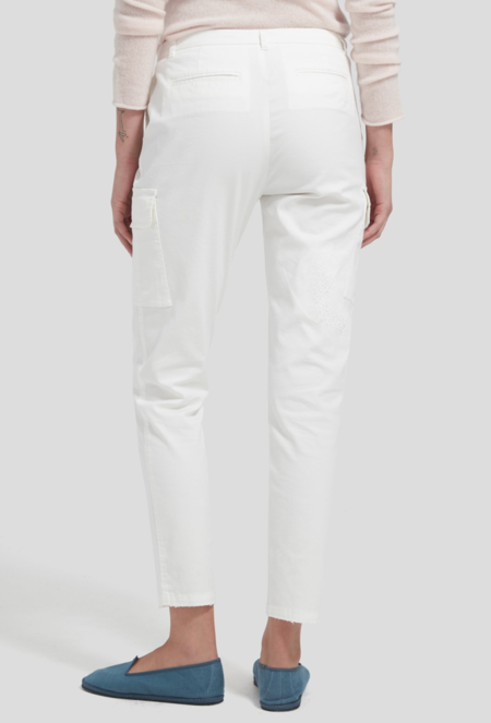 ATM Distressed Cargo Pants - White