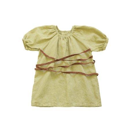 KIDS Tambere Ankara Dress - Yellow Green
