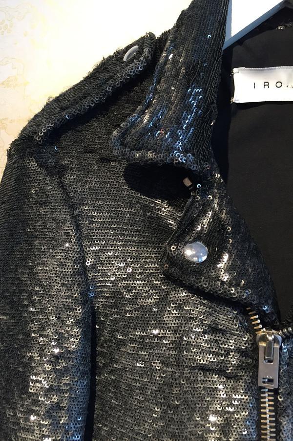 IRO 'Heleny' sequin moto jacket