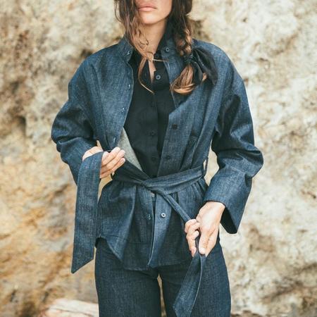 Ozma Kimono Sleeve Jacket - Indigo