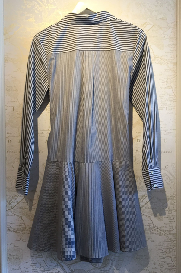 Derek Lam 10 Crosby Striped Tie Waist shirt dress