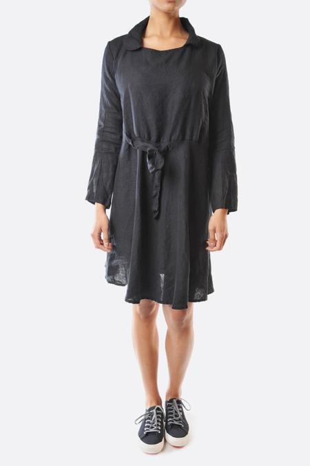 Pipsqueak Chapeau Linen Tie Dress - Dark Navy