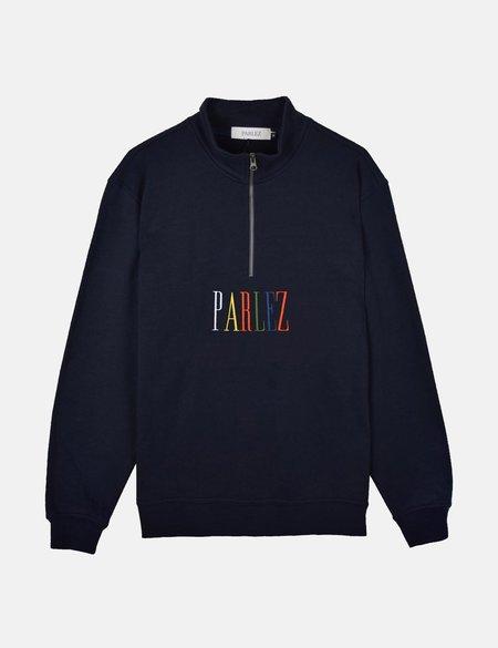 Parlez Anderson 1/4 Zip Sweatshirt - Navy