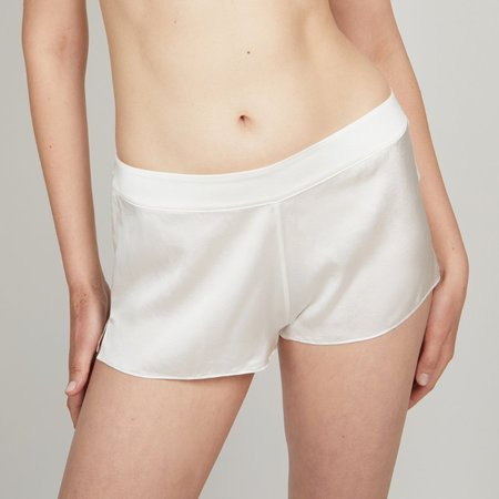 Kent Oh Organic Silk Shorts - Raw White