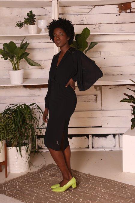 """INTENTIONALLY __________."" Archive 2034 Dress - Black"