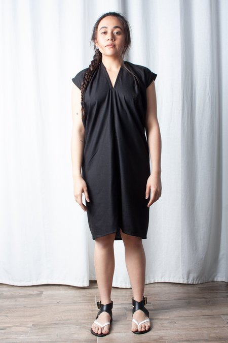 Miranda Bennett Silk Noil Everyday Dress - Black