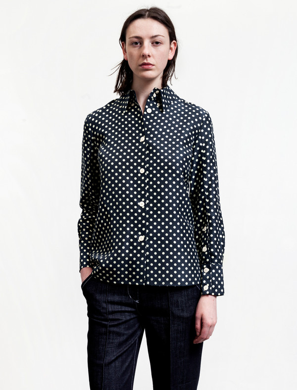 Trademark Polka Dot Silk Shirt