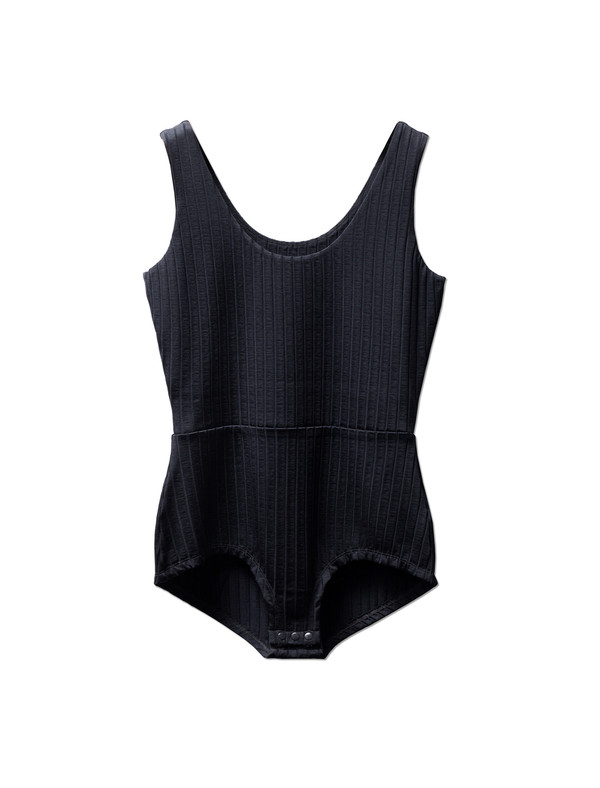 Trademark Womens Ribbed Bodysuit Navy