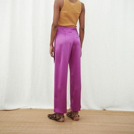 Nanushka Maye long satin pants - rosebud