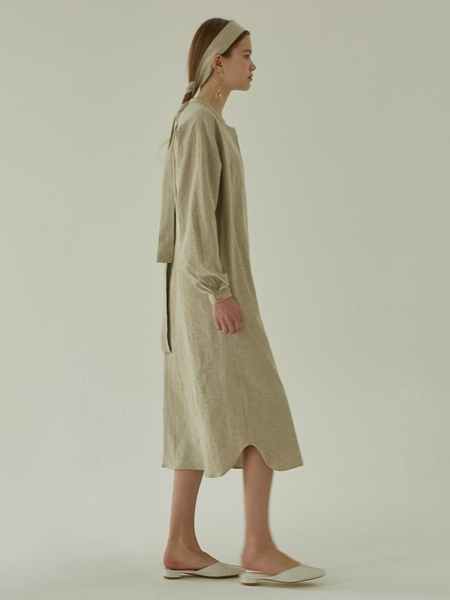 MORE OR LESS Linen Robe Dress - Ivory