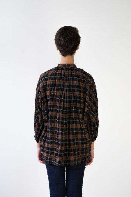 NICO Checkered Blouse - Brown