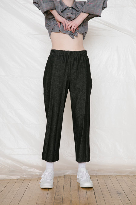 Unisex FAAN SLACK PANTS  - black denim