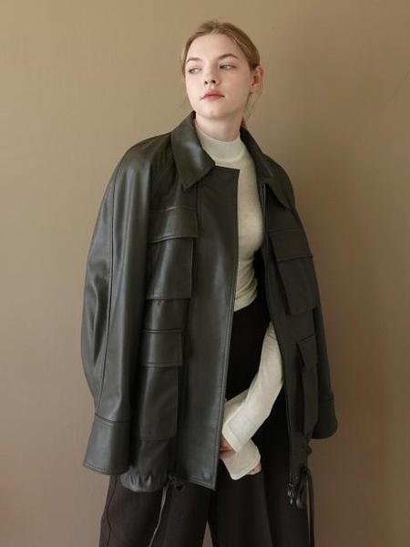 LE Fake Leather Jacket - Black/Brown