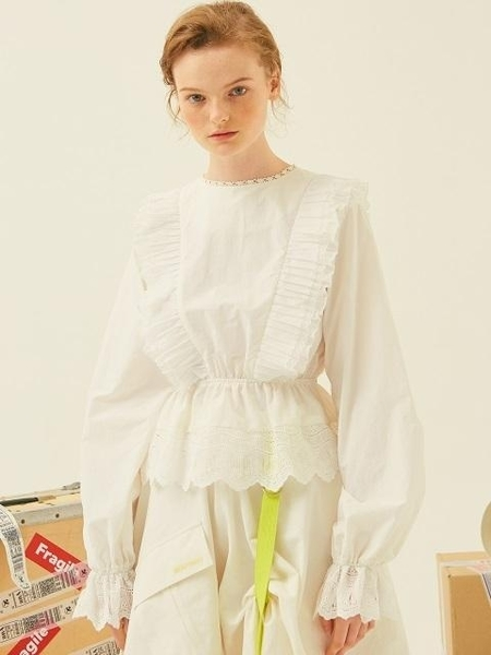 Another A Lace Blouse - White