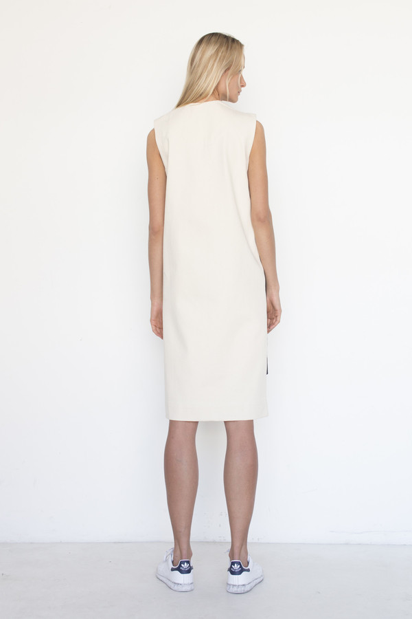 Nancy Stella Soto Cotton Offset Flap Dress