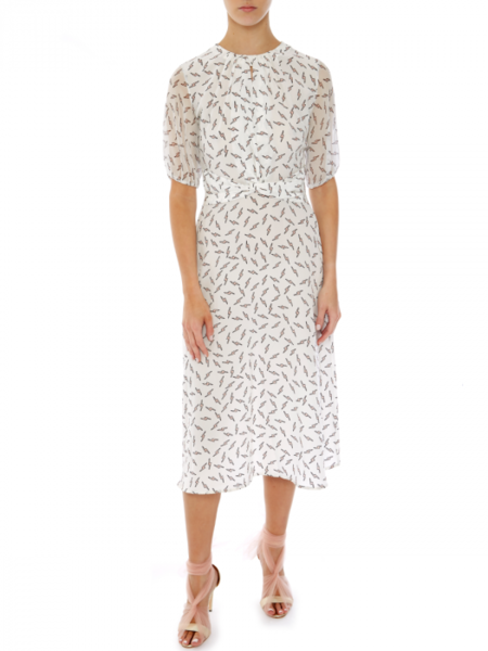 Markus Lupfer Carlie Bolt Dress - White