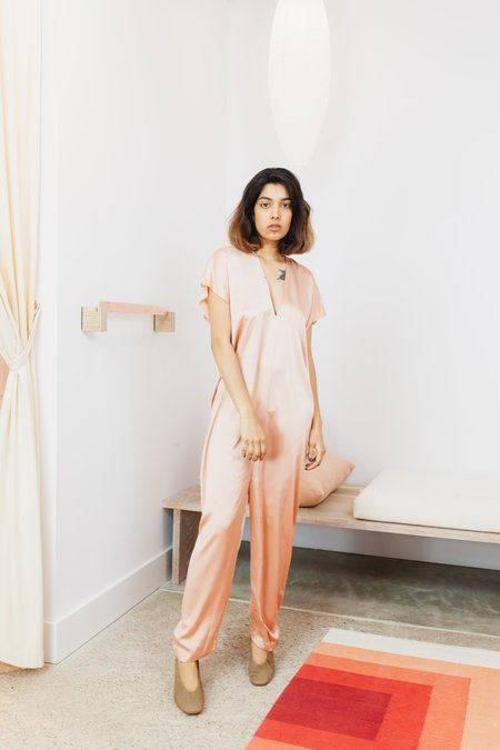 Miranda Bennett Silk Charmeuse Extended Everyday Jumpsuit - Bardot