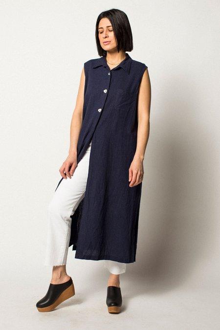 Vintage Preservation Sleeveless Dress - BLUE