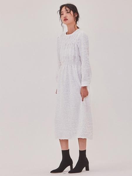 Ryul + Wai: Fringe Long Dress - White