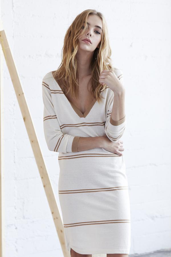 Callahan Stripe V Neck Dress