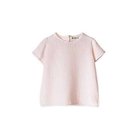 KIDS Go Gently Nation Flutter Sleeve T-Shirt - Oatmeal