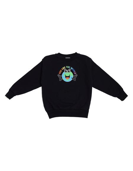 Kids Balenciaga Kids Printed Cotton Sweatshirt - Black