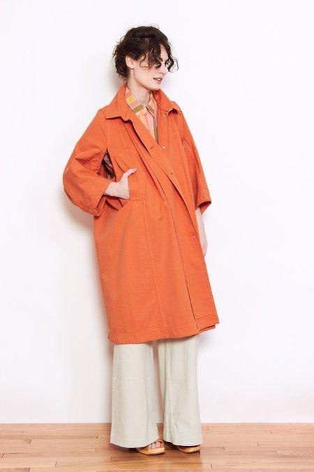 Henrik Vibskov Dictionary Denim Coat - Burnt Orange