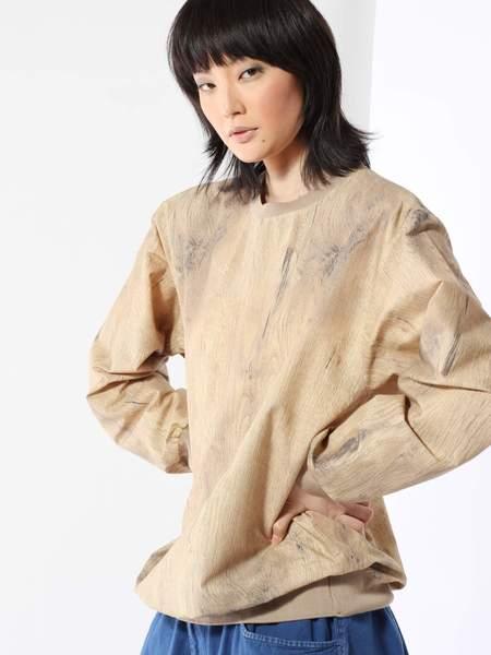 BLESS Woodbeige Woven Sweatshirt