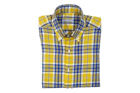 Milworks Kenton Cotton/Linen Shirt - Yellow Plaid