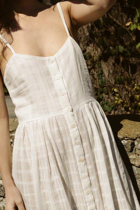 Gillia Dona Dress - WHITE
