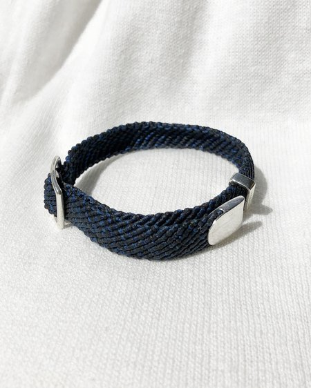 Scosha MACRAME BELT - Black / Royal Fleck
