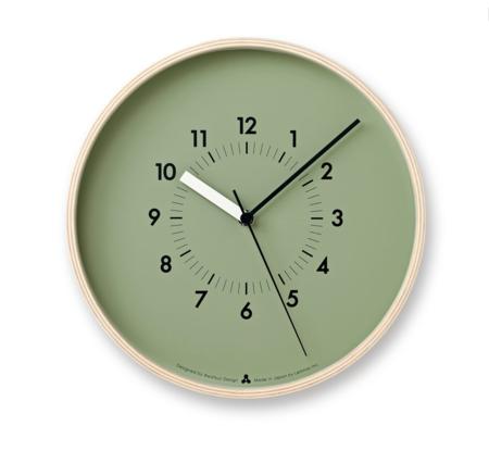 Lemnos Soso Wall Clock - Green