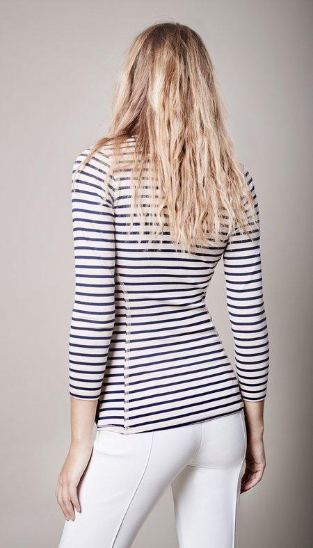 Smythe Lace-Up Henley - Breton Stripe