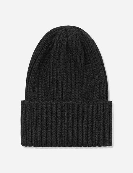 Highland Headwear Highland Wool Rib Beanie Hat - Black
