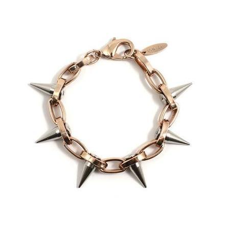 Joomi Lim Single Row Spike Bracelet - Rose Gold/Rhodium