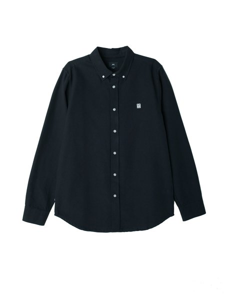 Obey 89 Icon II Long Sleeve Oxford Shirt - black