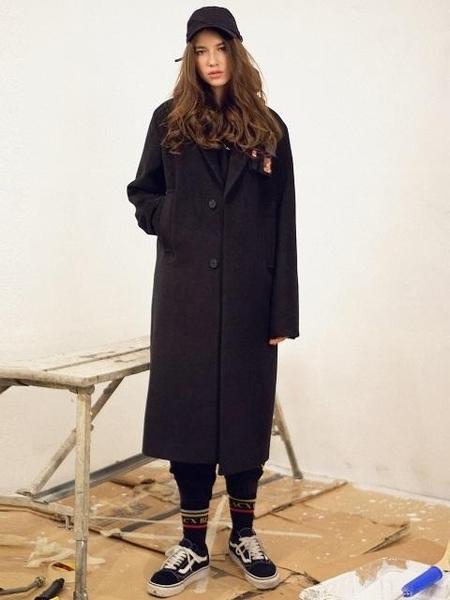 BLACX_YOHANIX Very Busy Pocket Point Long Coat - Black