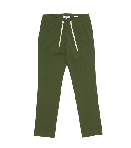 Freemans Sporting Club EZ Trouser - Olive Seersucker
