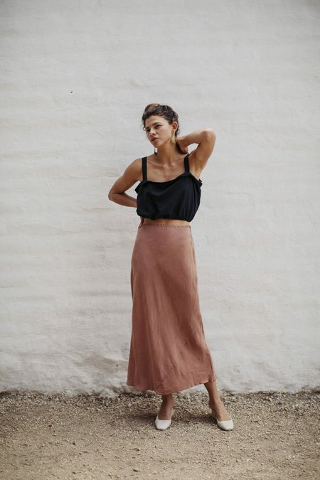 Ozma Grace Slip Skirt Cupro - Sand