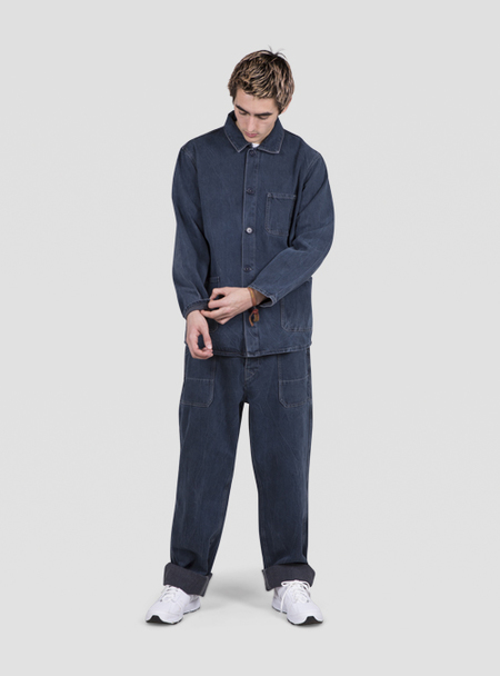 I AND ME Worker Chore Jacket - Midnight Blue