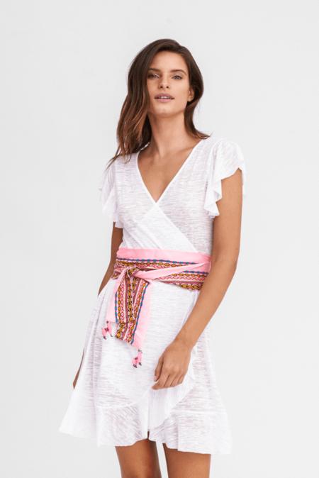 Pitusa Wrap Llama Dress - White