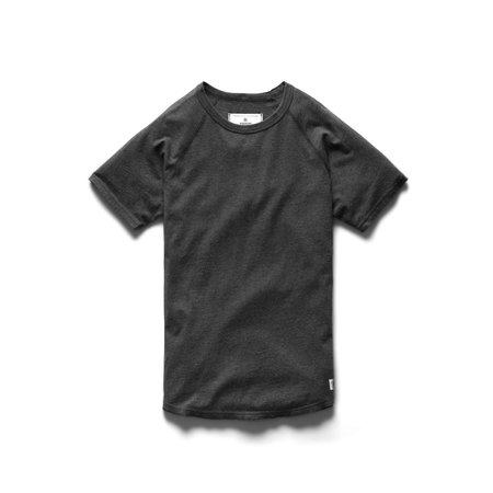 Reigning Champ Cotton Jersey Raglan Tee - Heather Charcoal