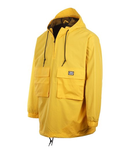 Obey Inlet Anorak - Yellow