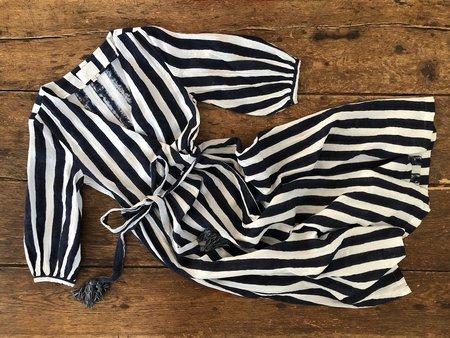 Voloshin Louisa Wrap Dress - Breton Stripe