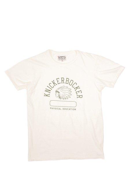 Knickerbocker Phys. Ed.Tube Tee - Green Print/Milk