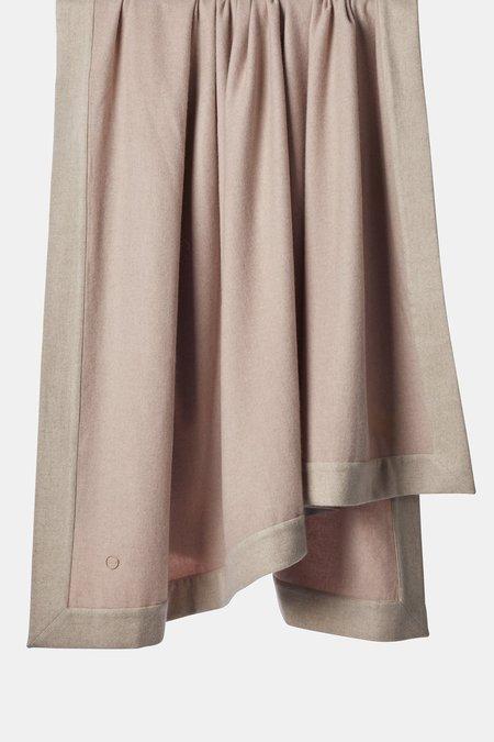 Oyuna Etra Heavyweight Timeless Luxury Cashmere Bedspread - Blush/Beige
