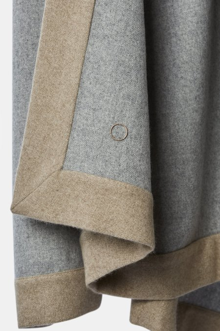 Oyuna Etra Heavyweight Timeless Luxury Cashmere Bedspread - Soft Grey/Melange Taupe